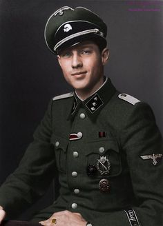 Portrait of SS-Untersturmführer Havvo Lübbe of the Leibstandarte Division, c. 1942.