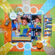 Birthday layout ideas - http://scrappingwithchristine.blogspot.com