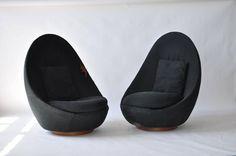 Pair of Tall Back Milo Baughman Swivel Lounge Chairs 2