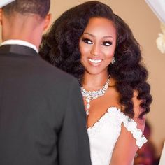 I love a beautiful, glowing, black bride.Makeup by instagram: @kilyprity