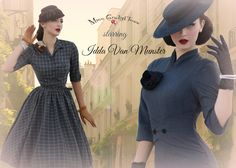 Idda Van Munster for Miss Candyfloss collaboration dresses - Robe crayon coupe années 50 et robe swing style New Look, disponible chez missretrochic.com