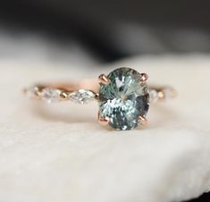 bridal rings oval cut aquamarine engagement ring set,diamond wedding white gold,curved V diamond band,heart band - Fine Jewelry Ideas Green Sapphire Engagement Ring, Green Sapphire Ring, Rose Gold Engagement, Engagement Ring Settings, Colored Diamond Rings, Sapphire Rings, Diamond Bands, Diamond Wedding Bands, Wedding Rings