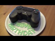 PlayStation PS Controller Cake / Tutorial / Motivtorte / Fondanttorte - YouTube
