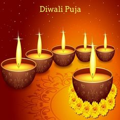 Offering special rituals and pujas to Gods on the day of diwali festival to get relief from all kinds of problems. Diwali Pooja, Diwali Festival, Festival Lights, Candles, Candy, Candle Sticks, Candle