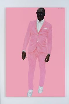 "Barkley L. Hendricks, ""Photo Bloke"" (2016), oil and acrylic on linen, 72 x 48 in (©Barkley L. Hendricks, courtesy of the artist and Jack Shainman Gallery, New York)"