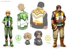 Voltron alt jackets Pidge and Hunk