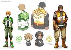 Refs for aku-usagi's Voltron alt  jackets - Pidge and Hunk