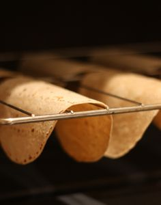THE COOLEST THING EVER. If you bake tortillas upside down, they turn into fat free taco shells!