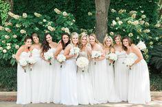 Christie + Garrett Summer Wedding   Bridesmaids in White   Tracy Enoch Photography