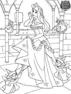 princess and gnome - Girly Pictures To Colour In