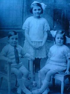 Eric William Enticknap,  twin sister Lillian and older sister Olive