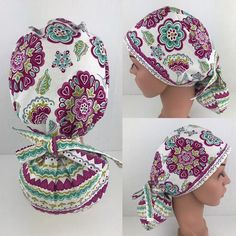 Ponytail Surgical Scrub Hats Womens Medical Hats Scrub Tech Cap Operating Room Nurse Hat Surgical Ca Scrubs Pattern, Scrub Hat Patterns, Operating Room Nurse, Nurse Hat, Scrub Caps, Hats For Women, Cotton Fabric, Hair Caps, Sewing Projects