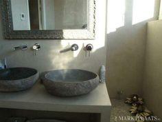 badmeubel van beton cire met natuurstenen wasbak