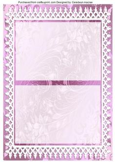 A5 Lilac and blue roses Incert  on Craftsuprint - Add To Basket!