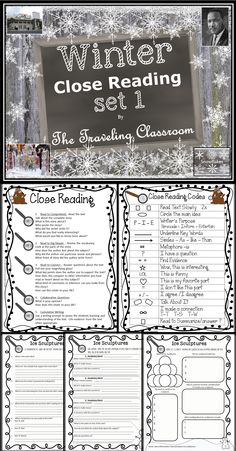 *Winter Close Reading Set 1- Includes 4 informational close reading passages - differentiated too! $
