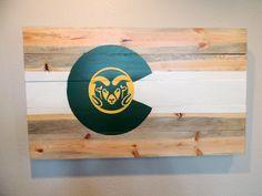 CSU Colorado Flag Wall Art Colorado State University Rams Beete Kill Wood