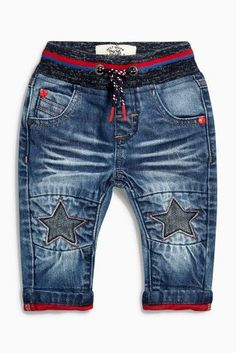 Buy Dark Blue Star Knee Jeans (3mths-6yrs) online today at Next: United States of America
