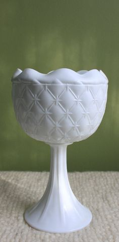 Milk Glass Footed Planter Vase and Bowl. by AnythingDiscovered