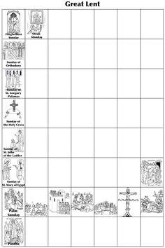 Many Mercies: Orthodox Lenten Calendar Printable