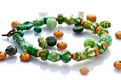Majestic Green Colorful Statement Necklace by GaiasBEADSandBAGS