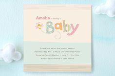 Quilting Bee Baby Shower Invitations by Jennifer Wick at minted.com
