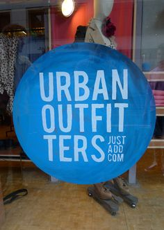 0f1bdf6582 love the way this sign was made and urban outfitters Retail Windows