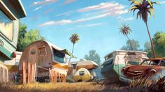 Reminds of the first neighborhood I lived in, in florida. The fly by Ariel Belinco, via Behance