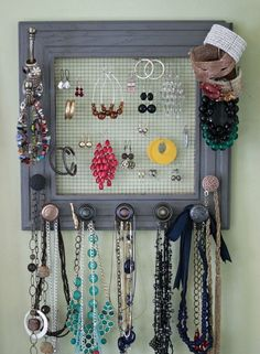 Ideas for Recycled Jewelry Hangers                                                                                                                                                                                 More