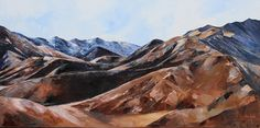 West views in the Lindis Pass.Palette knife oil on stretched canvas. Available at the Wanaka Fine Art gallery. Living In New Zealand, Palette Knife, Fine Art Gallery, Stretched Canvas, Oil, Artist, Painting, Travel, Viajes