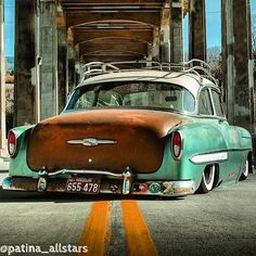 Chevrolet – One Stop Classic Car News & Tips 1954 Chevy Bel Air, Chevrolet Bel Air, Classic Hot Rod, Classic Cars, Rat Rod Cars, Rat Rods, Pin Up Girls, Pinup, Biker