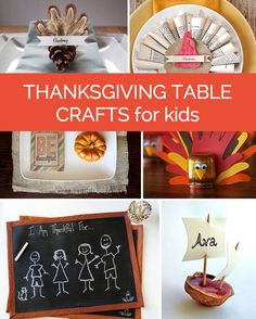 12 Dandy Thanksgiving Table Crafts for Kids!