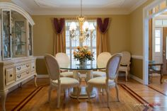 Nicely appointed dining room