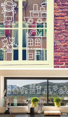 Gezellige Hollandse #raamtekening. Staat goed rond Koningsdag maar natuurlijk ook de rest van het jaar. Teken ze allemaal achter elkaar om een leuke rand te creëren of gewoon los, wat je leuk vind.
