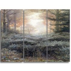 Design Art 'John Everett Millais - Dew Drenched Furze' Art Print - 28Wx36H Inches - 3 Panels