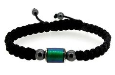 Handmade Shamballa Hematite Mood Bead Bracelet