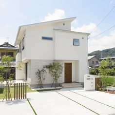 Home Room Design, House Design, Pale Blue Eyes, Through The Window, Japanese House, House Rooms, Exterior Design, Facade, House Plans