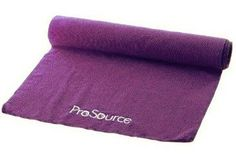 """ProSource Microfiber Yoga Towel Non Skid 68"""" x 24"""" (Purple) by ProSource. $15.99. ProSource Yoga Towels are made out of 100% Microfiber.  They are super absorbent and very quick drying.  Will provide you with a skid-less, anti-slip surface that will cover most yoga mats in full.  In some instances can be used instead of a mat.  ProSource Yoga Towel is perfect to use for Yoga,  Pilates, Gym, Boxing, MMA, Home, P90X, and any other workouts you may do.. Save 36%!"""