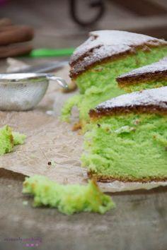 easy pandan chiffon cake recipe http://www.notonlycooking.com/easy-pandan-chiffon-cake/