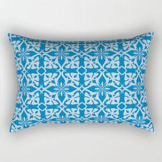 abstract pattern 1 blue Rectangular Pillow