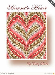 Sale - Bargello Heart Quilt Pattern PDF