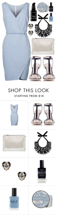 """Date night outfit inspiration!"" by runway2street ❤ liked on Polyvore featuring Konstantina Tzovolou, Forest of Chintz, Otazu, Lauren B. Beauty and arbÅ«"