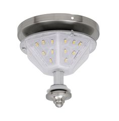 Fanimation F3 LED Fitter Light Kit for the Distinction Fan Brushed Nickel Ceiling Fan Accessories Light Kits Fitters
