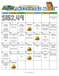 august month of meals budget meal plan moms bistro kid friendly dinner menu recipe free printable