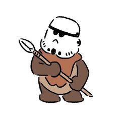 Wicket #wicket #stormtrooper #starwars #ewok #seijimatsumoto #松本誠次 #art #drawing #illustration #illustrator #movie #イラスト #スターウォーズ #ウィケット #ストームトルーパー #イウォーク #映画
