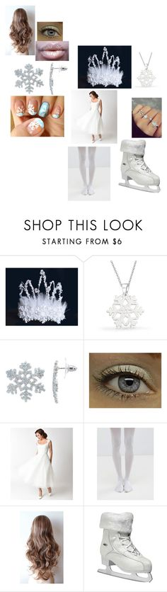 """Kathleen's Snowflake Ice Skating Costume"" by katieluv2sing18 ❤ liked on Polyvore featuring Bling Jewelry, Disney, Voodoo Vixen, Jonathan Aston and Roces"