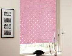 Equinox Blackout Dots Candy Pink Roller Blind from £31.50