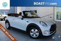2018 MINI COOPER 2d CONVERTIBLE**CLEAN CARFAX REPORT**FACTORY WARRANTY**STUNNING WHITE SILVER METALLIC EXTERIOR($500)**MALT BROWN PREMIUM LEATHER INTERIOR**POWER CLOTH SOFT TOP**ADDITIONAL OPTIONS INCLUDE: 1.5L TWIN TURBO 3CYL ENGINE 6-SPEED AUTO w/STEPTRONIC TRANS($1.250) SHIFT PADDLES TECHNOLOGY PACKAGE ($1.750) NAVIGATION SYSTEM 8. Mini Cooper Pictures, Mini Cooper Models, Mini Cooper Convertible, Car Camera, Electric Power, Twin Turbo, Leather Interior, Exterior Colors, Motor Car