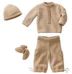 Babies Knitting Patterns Pullover, Pants, Hat & Bootees Pattern