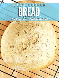 This kitchen hack saved me when our oven broke - how to bake homemade bread in a slow-cooker! It came out so good, and it was so simple! Love that it can be modified for any bread, yeast or quick-bread, and that it doesn't heat up the house! :: DontWastetheCrumbs.com