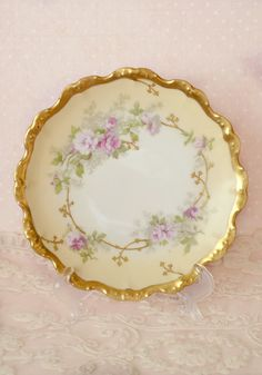Gorgeous Antique Small Flambeau Limoges France Plate